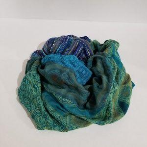 Jewel toned infinity scarf Croft & Barrow